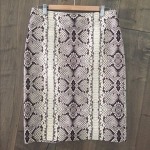 J. Crew No. 2 Pencil Skirt in snakeskin print